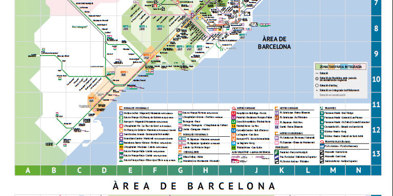 Mapa Renfe Regional Catalunya.Mapa De La Red Ferroviaria De Cataluna Transportpublic Org
