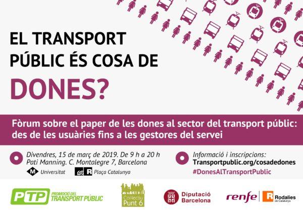 """Fòrum """"El transport públic és cosa de dones?"""""""